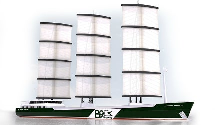 The world's first fossil fuel-free ship, designed by B9 Shipping (B9S), part of the B9 Energy Group
