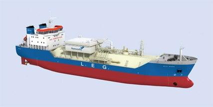 Liquid ethylene gas (LEG) carrier