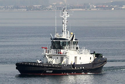 Media Luna and its sister vessel are the two most powerful tugboats in the fleet