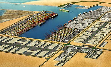 It is considered to be the largest port development project in the world to be built on unused land