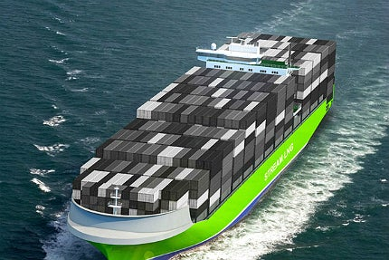 The vessel's design meets all future requirements set forth by International Maritime Organization