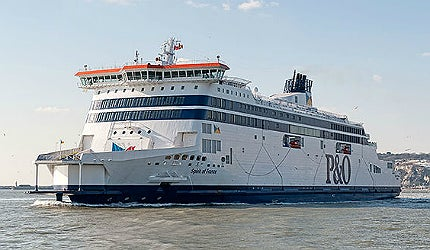 Spirit of France is the second of two car-passenger ferries english channel stx P&O