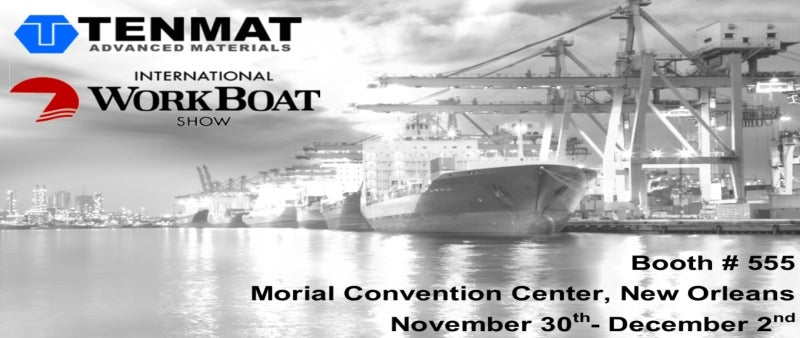 Tenmat to exhibit at workboat 2016
