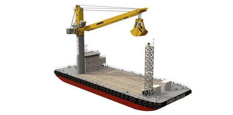 Damen-crane barge 790