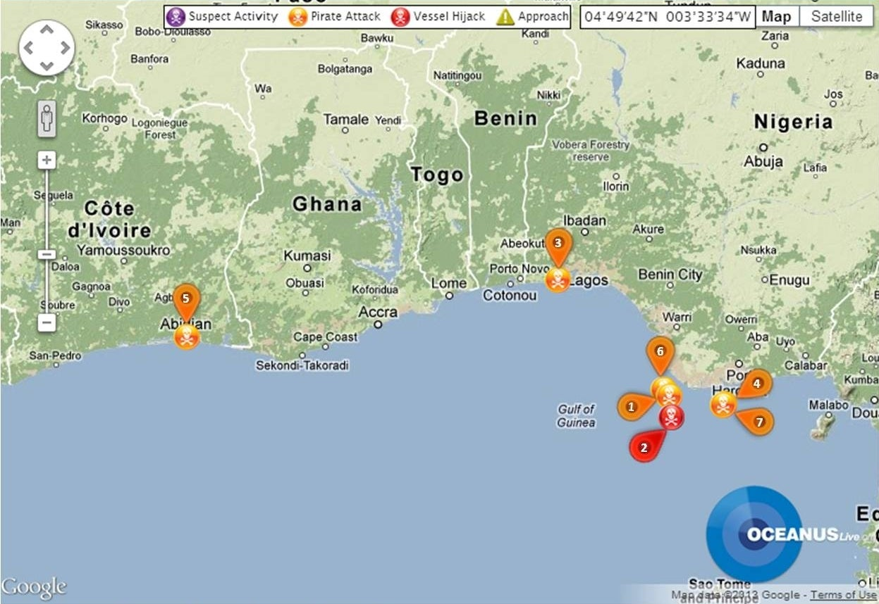 April Piracy Report West Africa