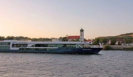 Avalon Vista river cruise suite ship.
