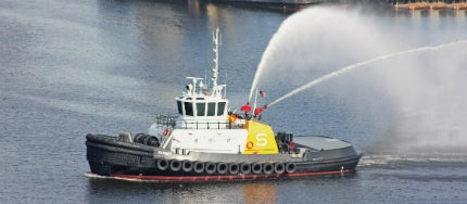 Marine Towing of Tampa's fire-fighting tug Patriot