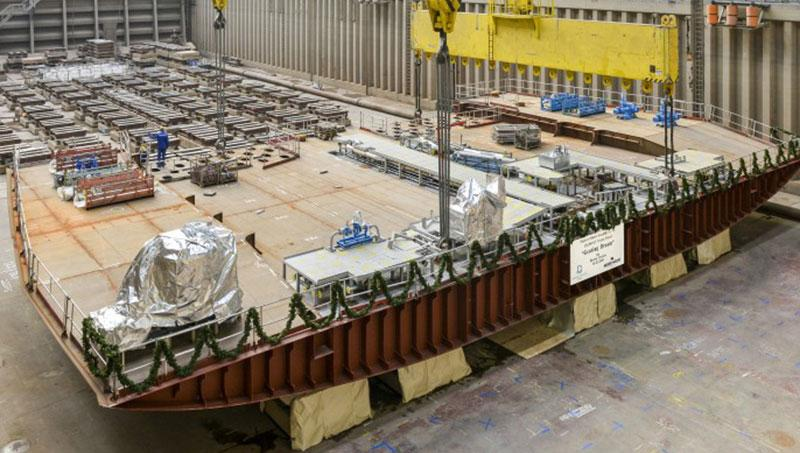 keel laying of Genting Dream cruise ship