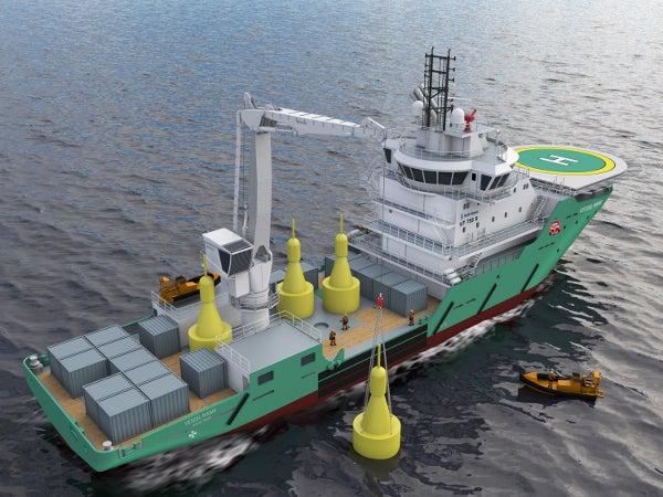 Buoy tender vessel