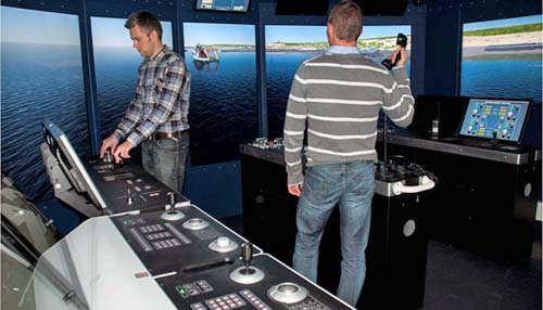 Kongsberg offshore vessel simulator
