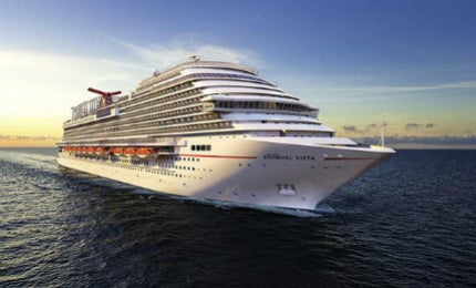 The Carnival Vista cruise ship - featuring 15 passenger decks and innovative entertainment facilities