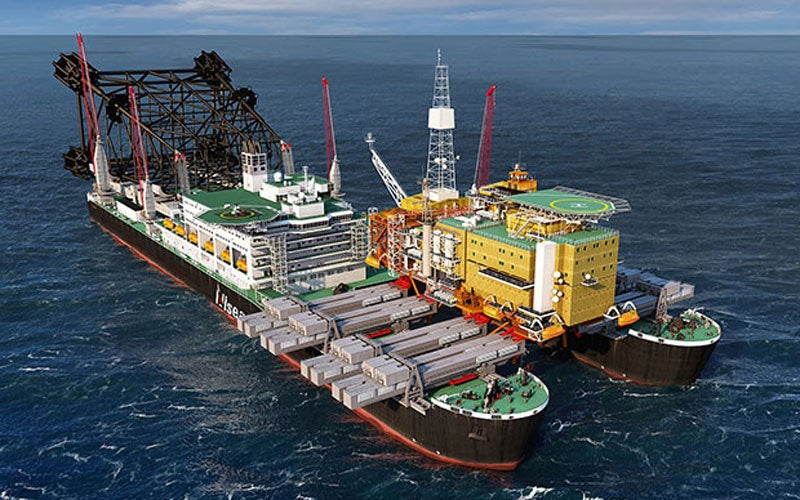 Pioneering Spirit is the world's biggest heavy lift construction vessel under construction.