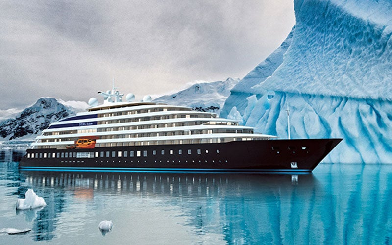 The yacht is designed to navigate through Arctic and Antarctic waters in the summer.