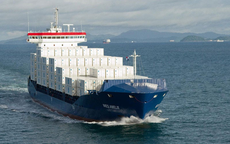 Wes Amelie, initially launched in 2011, is a container feeder vessel operating in North and Baltic Seas.