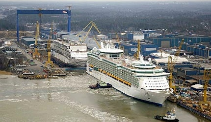 A prominent vessel affected by the strikes was Royal Caribbean's cruise liner